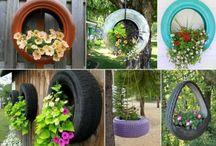 tyre planter ideas