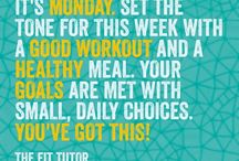 Monday saying / Get fit on Monday