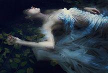 Aquarell Lady of the lake