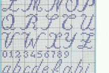 lettere corsivo punto croce