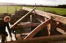 Timber Framed Barn Conversions / Barns converted with a timber frame by Carpenter Oak Cornwall.