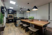Gourmet / Projetos gourmet executados por profissionais parceiros com produtos da Bel Lar Acabamentos.