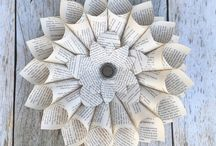 Book Decor / Board dedicated to home decor and handmade crafts constructed out of recycled book pages.