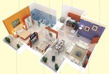 Houses - appartment floorplan