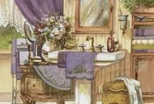 banyo temalı dekopaj resimleri