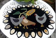 fabric chickens / by Pauline Perry