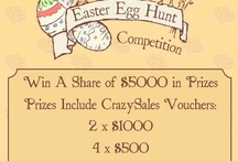 Easter fun at CrazySales / Easter fun colour-in activity