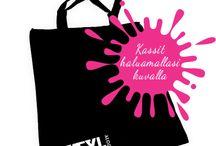Kassit painatuksella / Eveyl tarjoukset Bag tulostusta. Tarjoamme palveluja tulostaa Laukut. Eveyl on suomalainen tekstiilituotteiden sekä muiden painotuotteiden painamiseen erikoistunut painotalo.