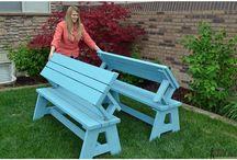 kursi meja kayu