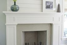 fireplace / by Julie {The Girl in the Red Shoes}