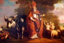 Sint  Nicolaas schilderijen / Sint-Nicolaas is een zeer populair onderwerp voor kunstenaars door de eeuwen heen. Deze mooie kunst is nu te vinden in vele galeries, musea en kerken.