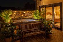 Hot tub decking ideas
