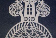 Papír/Paper crafts - stencils etc.