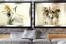 Styl skandynawski / Scandinavian style / Nowoczesne obrazy do salonu. Unique paintings. Unikatowe zdobienia obrazów do sypialni i jadalni.