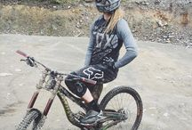 Girls do mountain biking