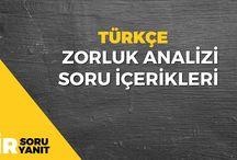 TYT- Türkçe Soru Soru İçerikleri ve Soru Analizleri