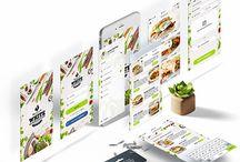 Premium White IOS Restaurant app UI kit design