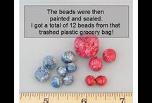 plastiek sakke in krale omskep