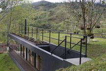 Eli - House in hill flat roof