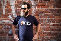 Fuzz T-Shirts / We have some excellent t-shirts at http://originalfuzz.com/collections/t-shirts. They're screen printed in the USA on a navy American Apparel 50/50 shirt.