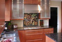Illumination Art & Design: Kitchen Backsplashes / Custom made glass kitchen backsplashes, hand painted by Sean Michael Felix, Illumination Art & Design Studio, Chicago
