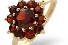 Garnet Jewellery - January Birthstone / As the birthstone for January, garnet is said to inspire love and loyalty. The red garnet's fiery sparkle and symbolism make it a perfect gift for significant dates and romantic occasions.