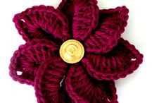 crochet flower / I like to crochet and flowers