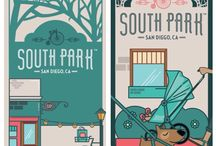 South Park Branding Program / South Park, San Diego is a neighborhood nestled between North Park and Golden hill, just east of Balboa Park and northeast of Downtown San Diego. Our re-branding initiative was spearheaded by local small business owners whose goal was to keep the historical flavor that this tree-lined neighborhood is known for but update the look to convey the hip, pet-friendly and family oriented community that currently inhabits the area.    #SouthParkSD #Neighborhood #Branding #Marketing #Community