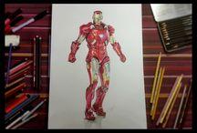 Iron Man - time lapse drawing