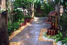 Garden area on east side / Gardens