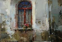 architectural oil painting