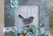 MIXED MEDIA -  assemblage, wire, wood blocks, misc. art etc / and rocks and things / by Deborah Woo