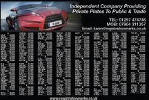 Private Car Registrations for sale / Small selection of numbers available Many price reductions - many cheap numbers