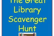 Library Scavenger Hunts / Ideas for library scavenger hunts.