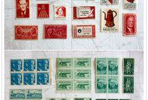 切手コラージュ