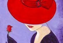 mulher de chapeu