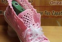 Para sapatos de crochet