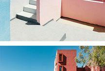 Long thin courtyard design