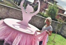 Ballerina party table...gym