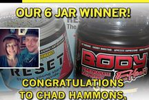 Winner- winner / Win 6 jars of Power Performance Products! Reset and Body Effects - enter by Liking our Facebook page. We announce the winner each month on the 25th. Best of luck!  Go to our Facebook page: Body Effects & Reset & Power Performance Products