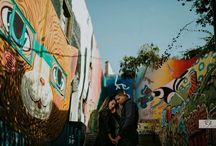 engagement: urban photoshoot