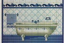 baños punto de cruz
