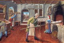 medieval bakery / Medieval bakery, bread