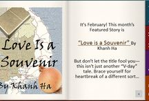 """Love Is a Souvenir (http://www.tetheredbyletters.com/) / But don't let the title fool you— this isn't just another """"V-day"""" tale. Brace yourself for heartbreak of a different sort …"""