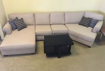 Custom sofas in customer homes / Pieces made and in the customer house