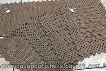 Crochê/Tapetes Retangulares