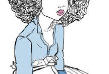 natural hair #black girl #black art#illustration