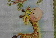 Pinturas tecido Bichinos
