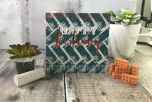 Manifold - Contemporary, urban male greeting cards with copper foil