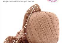 El arte del crochet y Cocina en familia / El arte del crochet es el nuevo coleccionable, todos los jueves gratis con El Observador.  Cocina en familia es un suplemento del cocinero Diego Ruete, sale todos los sábados, también gratis con el diario.
